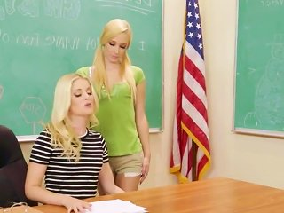 Two Lez Schoolgirls Having Sex In Class