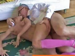 Old Man Fucks And Facializes Blonde