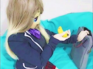 Masturbating In Rubber Kigurumi Mask - School Girl 1