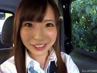 Sweet Schoolgirl Sazanami Aya Ravished With A Vibrating Sex Toy
