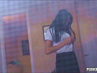Stalking Schoolgirl
