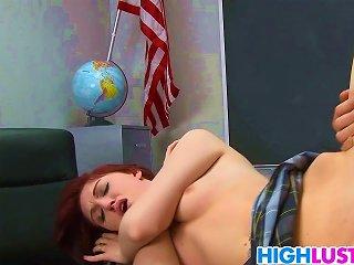 Schoolgirl Alana Rains Gets Punished