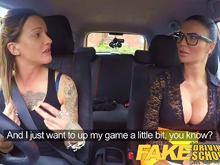 Fake Driving School New Driver Gets A Course In Lesbians
