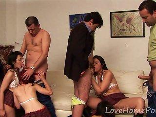 Bisexual Schoolgirls Love Banging In An Orgy