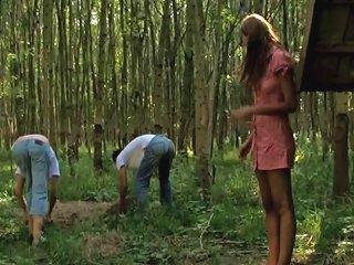 Serious Outdoor Threesome Porn Videos