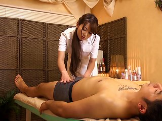 Yui Hatano Massages A Guy's Boner And Pleases Him With Grinding